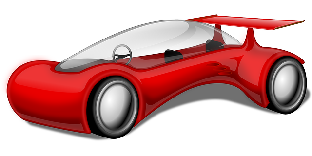 red, future, car, cartoon, cars, vehicle, automobile