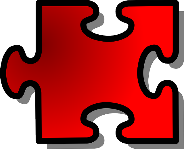 red, large, outline, shapes, template, shape, jigsaw