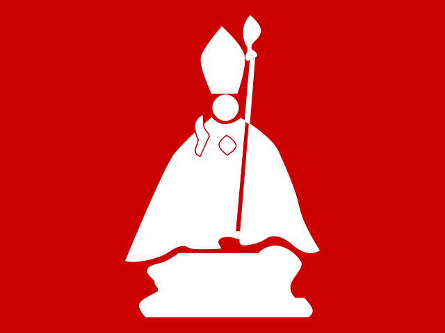 red, sign, symbol, silhouette, figure, priest