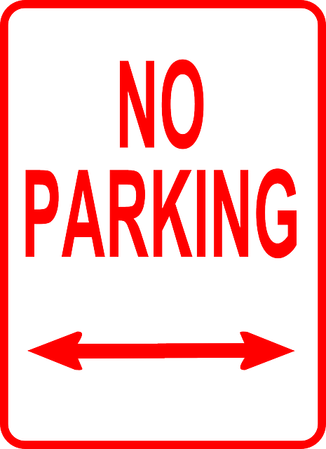 red, sign, white, cartoon, signs, free, parking