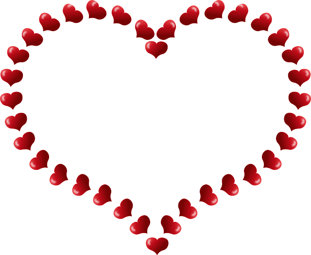 red, small, outline, star, cartoon, shapes, heart, page
