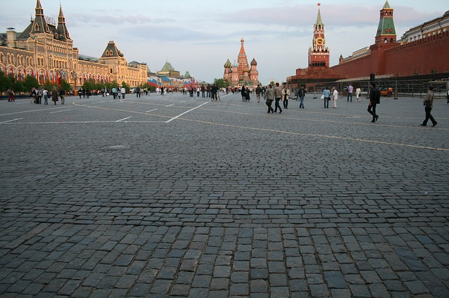 red square, kremlin wall, red, st basil's cathedral
