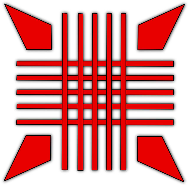red, symbol, cross, arrows, pointed, arrow, point