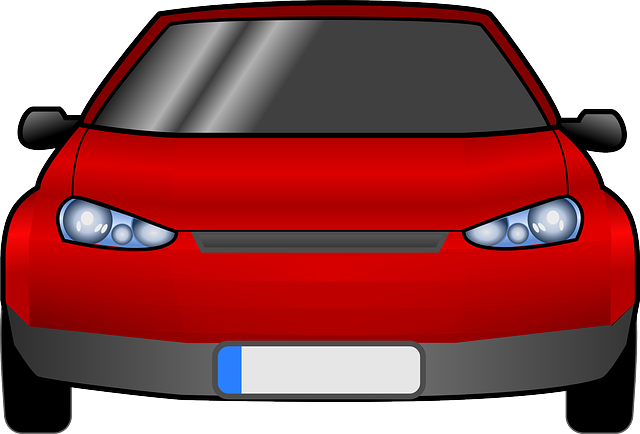 red, view, silhouette, car, cartoon, from