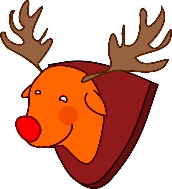 red-nosed, reindeer, rudolph, animal, christmas