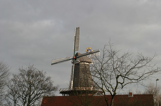 rügen, rügen island, baltic sea, mill, windmill, clouds