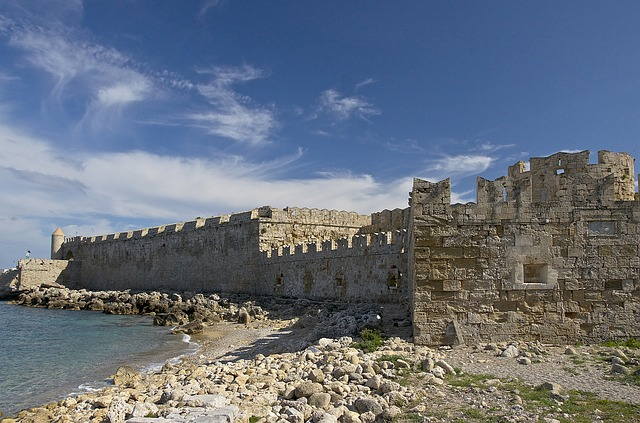 rhodes, greece, fortress, fort, ancient, medieval