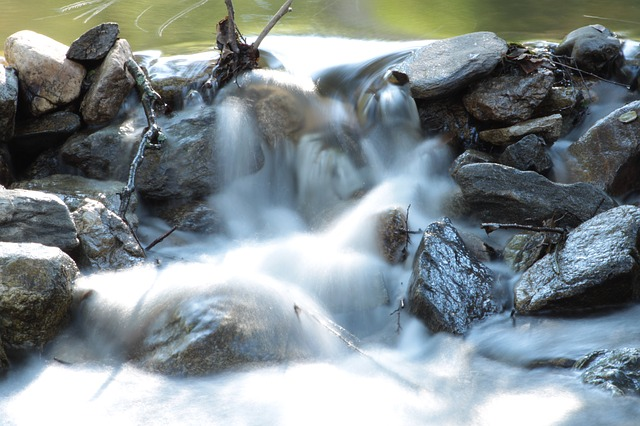 river, waterfall, water, nature, bach, waters, stones
