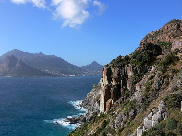 rocks, cliffs, sea, bay, hout bay, south africa, cape