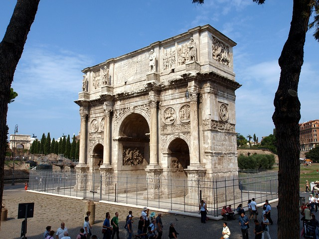 rome, italy, arch of constantine, places of interest