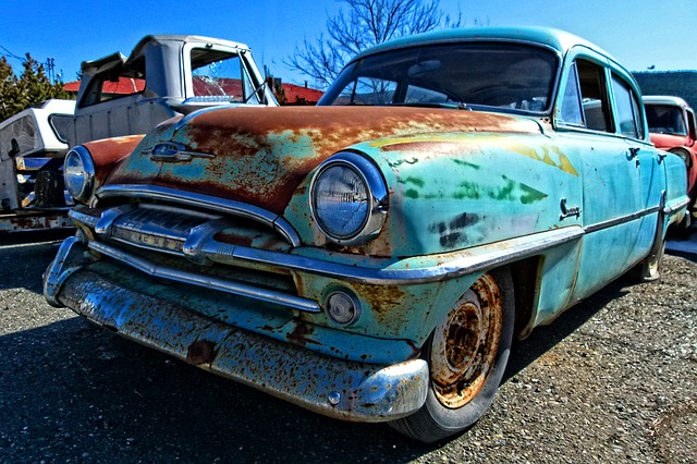 rusty, old, truck, automobile, colorful, transportation