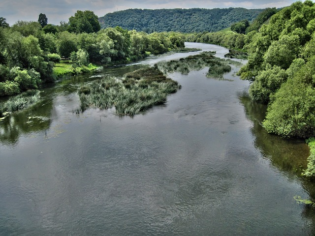 saar, river, water, germany, landscape