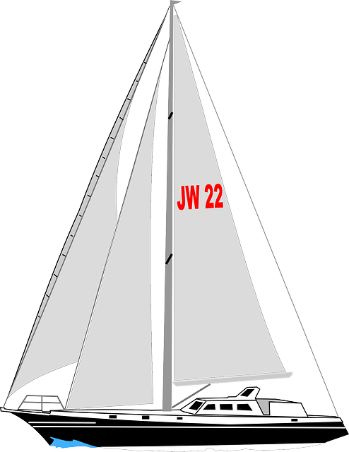 sailboat, boat, yacht, sail, water, sea, sailing