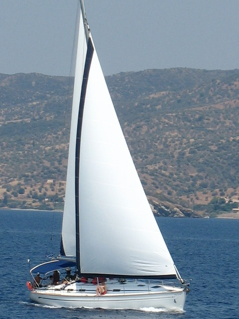 sailboat, mediterranean, greece, mediterranean sea