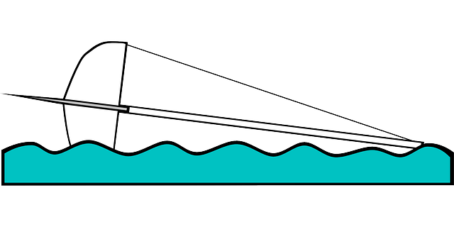 sailing, transportation, boating, capsize, illustration