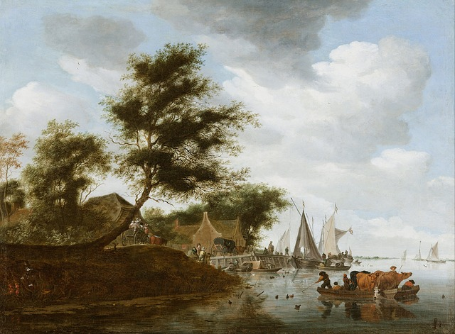 salomon ruysdael, art, artistic, painting