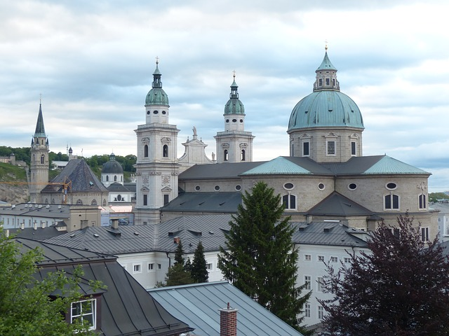 salzburg cathedral, dom, cathedral, roman catholic