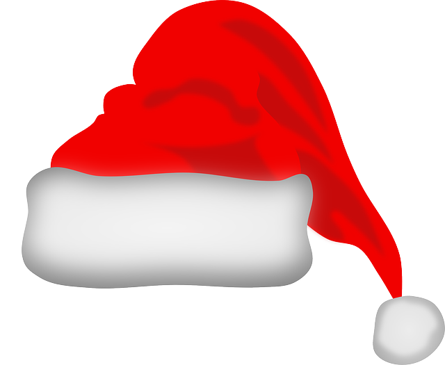 santas hat, christmas, claus, santa, xmas, hat, red