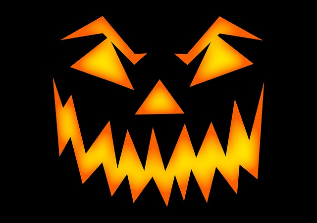 scary, light, jack-o-lantern, horror, night, halloween