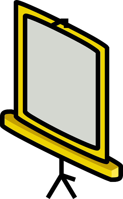 screen, flat, icon, projector, chalkboard