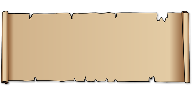 scroll, paper, parchment, border, background, leather