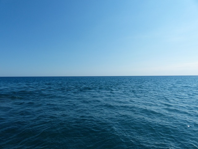 sea, ocean, infinity, wide, loneliness, sky, blue