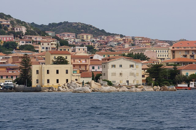 sea, water, see, surface, nature, bank, homes