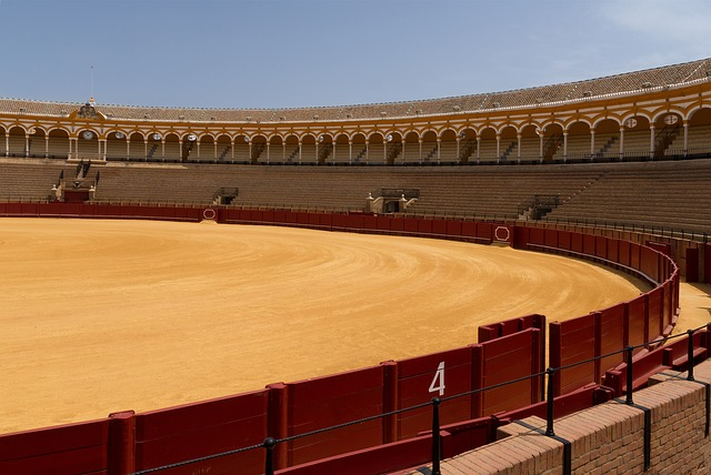 seville, spain, bullring, arena, venue, seats, seating