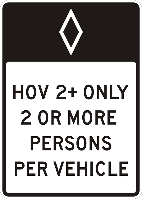 sign, attention, hov, expressway, freeway, highway