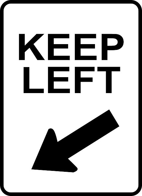sign, black, left, arrow, white, signs, keep, road