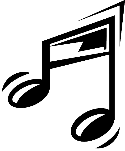 sign, black, music, note, outline, symbol, silhouette