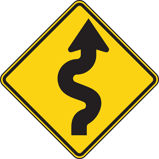 sign, drive, right, symbol, car, road, information