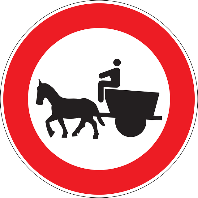 sign, drive, symbol, drawn, horse, entry, road