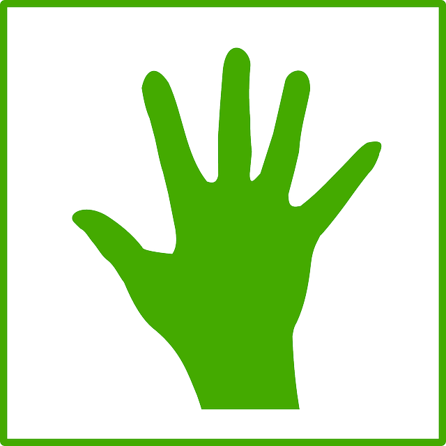 sign, hand, fingers, green