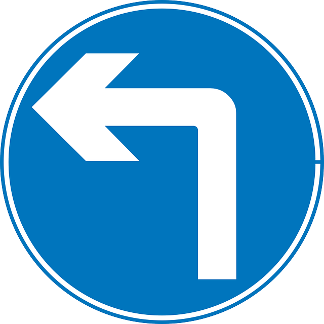 sign, left, right, cartoon, signs, symbols, ahead