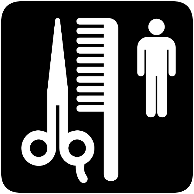 sign, scissors, symbol, silhouette, person, information