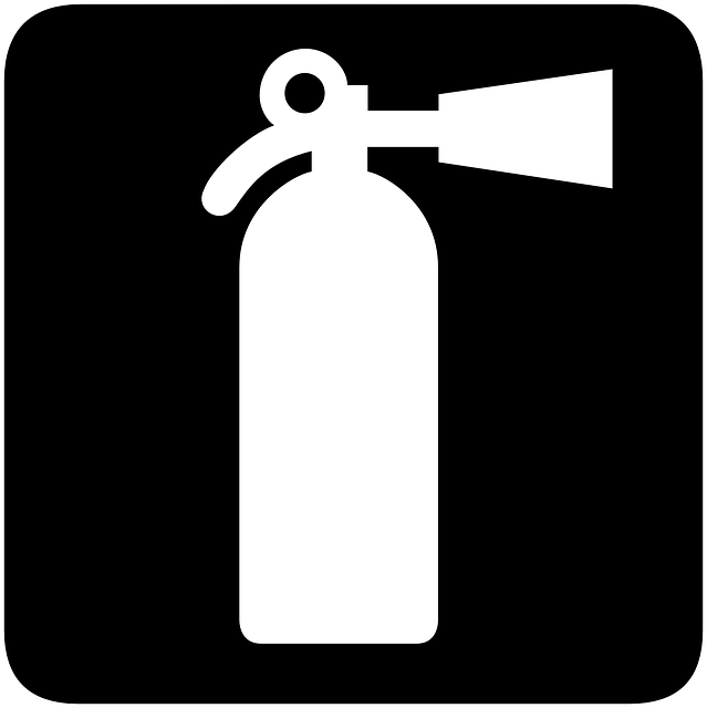 sign, symbol, fire, safety, extinguisher, spray