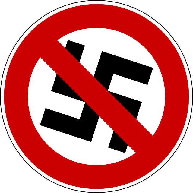 sign, symbol, nazi, swastika, against, prohibition