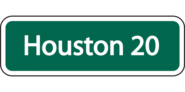 sign, traffic, information, highway, houston, distance