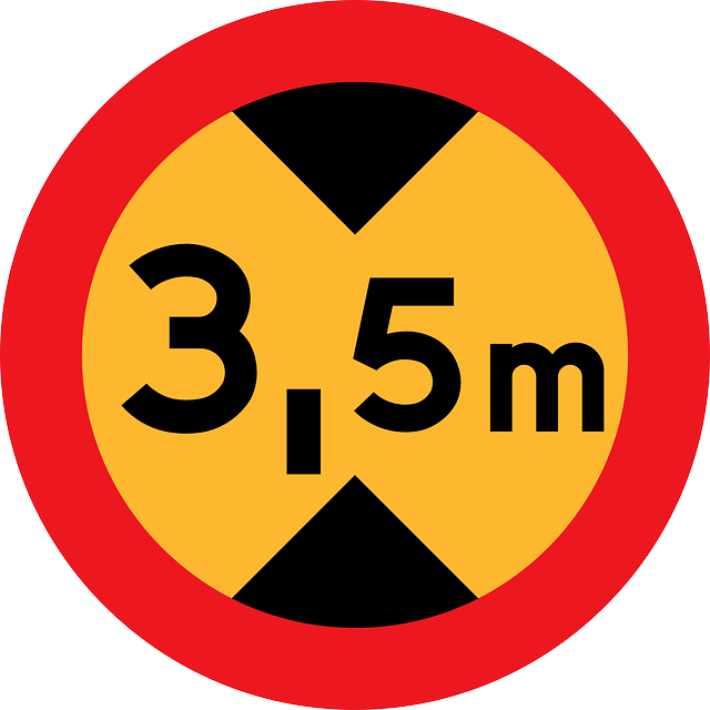 sign, transportation, maximum, meters, high, height