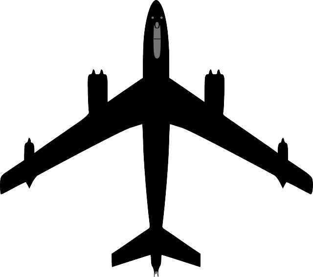 silhouette, airplane, plane, flying, aircraft, boeing