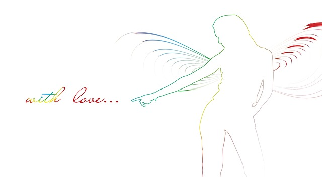 silhouette, angel, wing, elegant, drawn, symbol, think