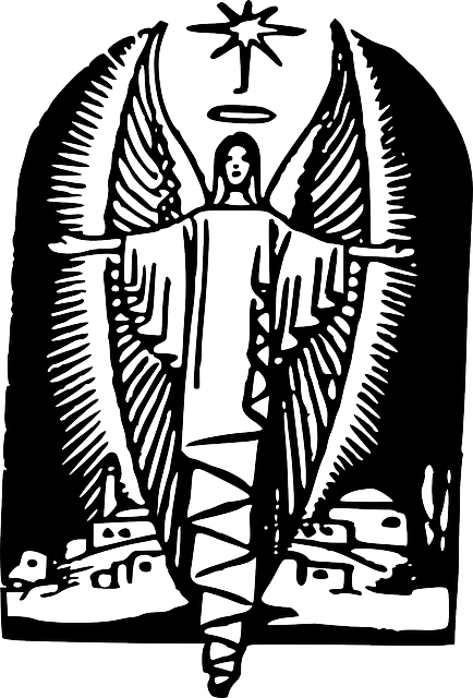 silhouette, angel, wing, wings, drawings, with, angels