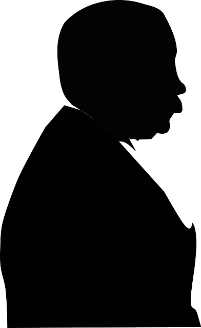 silhouette, man, person