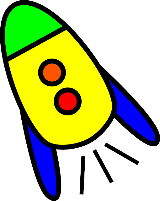 simple, alien, cartoon, fly, free, rocket, ship