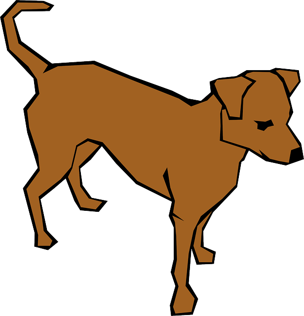 simple, drawn, drawing, dog, color, straight, lines