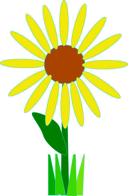 simple, yellow, plants, flower, flowers, cartoon, basic