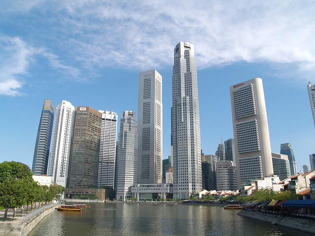 singapore, city, cities, sky, clouds, skyscrapers