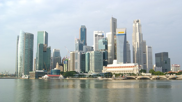 singapore, city, skyscrapers, buildings, skyline, urban