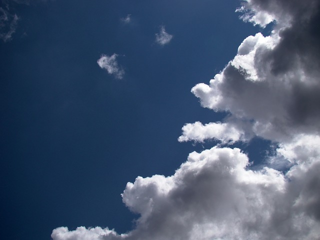 sky, clouds, blue, white, summer, day